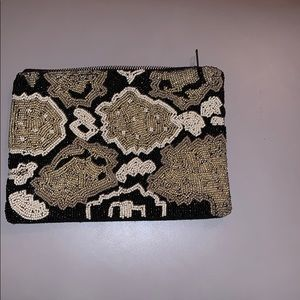 Ink & Alloy beaded purse